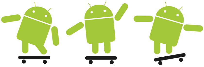 Google Android skating