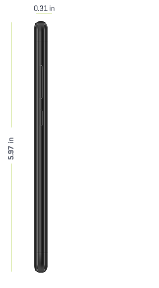 m3 phone dimensions side