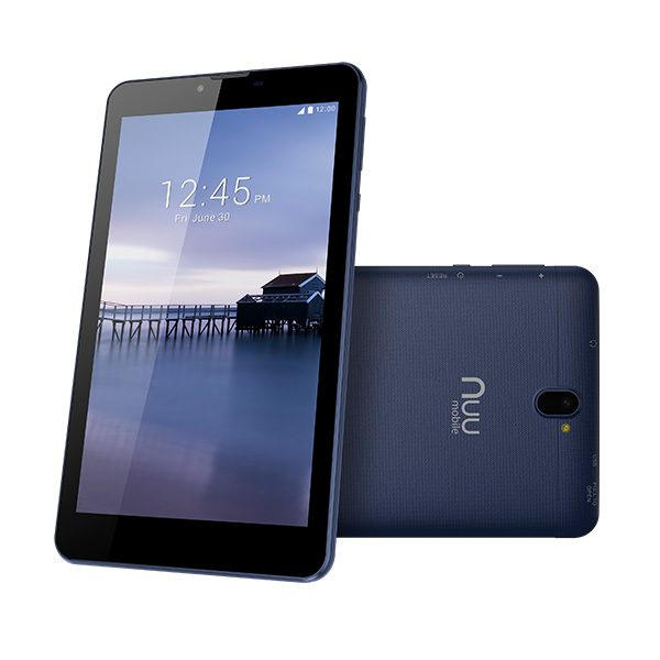 T2 Android Tablet Front Back Blue