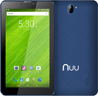 T2 Plus Android Tablet Front Back Blue