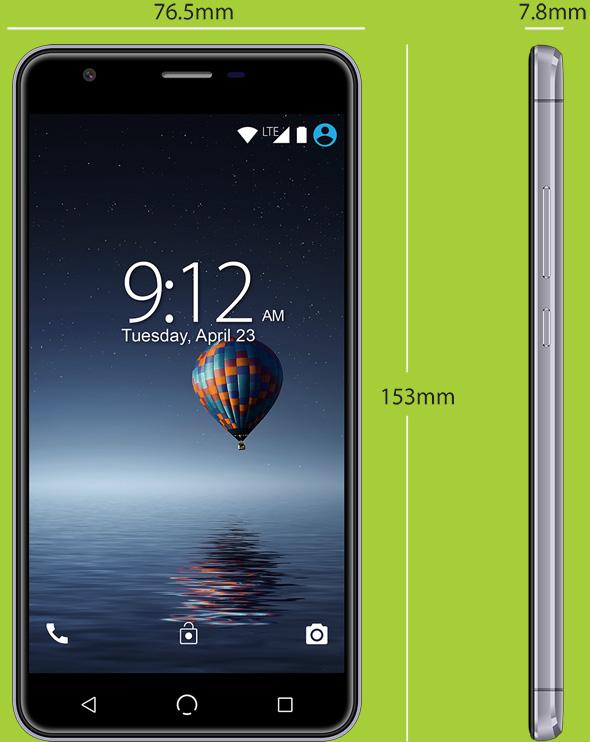 X5 Phone Dimensions