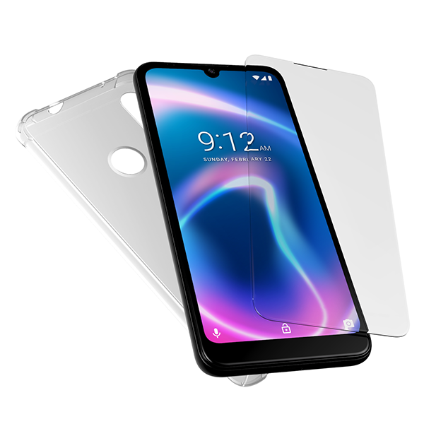 X6 Plus TPU Case and Tempered Glass Screen Protector